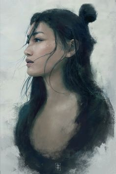 rainbow in your eyes | artissimo:   blue portrait by eve ventrue Sparrow...