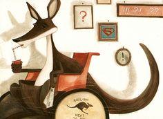canguro zoppo by Daniela Illustration, via Flickr