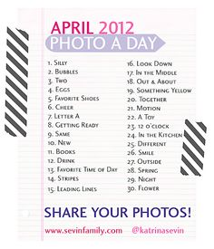Photo A Day - April