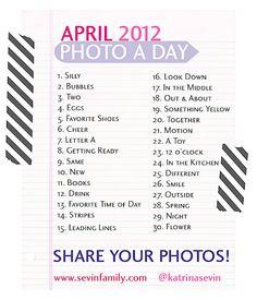Photo A Day - April
