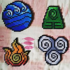 Four Elements - Avatar perler beads by nitrosplicer
