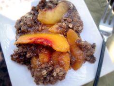 Gluten-Free Peach Crisp #summer