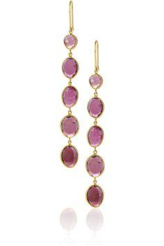 PIPPA SMALL  18-karat gold tourmaline drop earrings