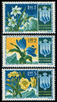 Blue Moon Philatelic Stamp Store - San Marino 336-338 Stamps Flowers Stamps EU SM 336to338-1 MH, $0.75 (http://www.bmastamps2.com/stamps/europe/san-marino/san-marino-336-338-stamps-flowers-stamps-eu-sm-336to338-1-mh/)