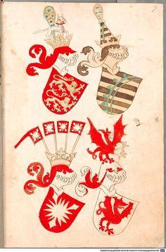 Bruderschaftsbuch des jülich-bergischen Hubertusordens Niederrhein, um 1500 Cod.icon. 318  Folio 7r