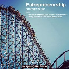 Entrepreneurship; its a lot like a roller coaster you're strapped in and you can't get off but the ride is worth it.  There are lots of twists and turns you have extreme highs and you can have some pretty extreme lows and sometimes it's all a bit scary but you stay on the ride just to feel the thrill of that fall again.  No matter where you are in life; dont you be afraid to take the ride. Hold on tight up the hills and let go during the falls. What really matters is whether you're keeping…
