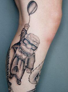 71 Cartoon Tattoo Designs for Cartoon Lovers - Beste Tattoo Ideen Disney Tattoos, Disney Inspired Tattoos, Cartoon Tattoos, Up Tattoos, Little Tattoos, Wrist Tattoos, Body Art Tattoos, Tatoos, Nice Tattoos