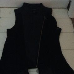 Leather And Mesh Vest New Never Worn NWOT  Tops