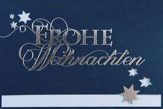 Himmlisch schöne Weihnachtsgrüße überbringen Sie mit dieser dunkelblauen #Weihnachtskarte! Stampin Up, Home Decor, Blue, Nice Asses, Decoration Home, Room Decor, Stamping Up, Home Interior Design, Home Decoration