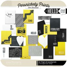 Freebie - Especially love the one with the words making up the camera. Hello. Chalk Cards -