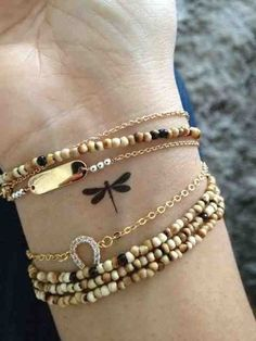 Dainty Dragonfly - Dainty Wrist Tattoos for Women - Photos