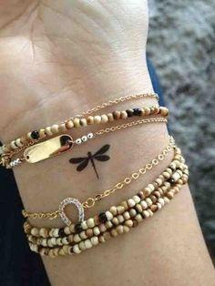 Dainty Dragonfly - Dainty Wrist Tattoos for Women - Photos