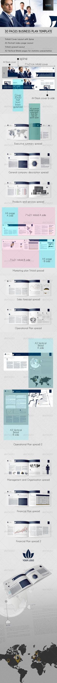 Professional Business Plan Template  Us Letter  Business