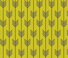 arrow_chartreuse fabric by holli_zollinger on Spoonflower - custom fabric --- Spoonflower also does GIFT WRAP in this. :)