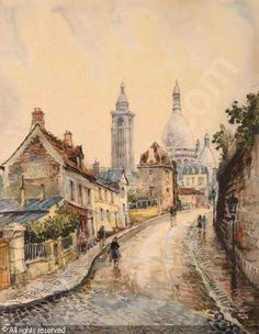 Frank William,Montmartre, rue de l'abreuvoir