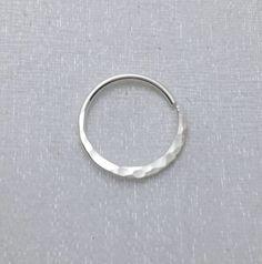 Septum ring hoop simple modern STERLING by waterleliejewellery
