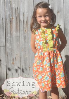INSTANT DOWNLOAD- Collette Dress (sizes 12/18 months to 8) PDF Sewing Pattern and Tutorial