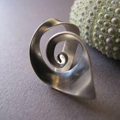 Regelbare spiraal zilveren ring, Open spiraal zilveren ring