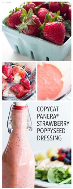 Yummy strawberry poppyseed dressing!