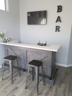 Home bar with built in kegerator!
