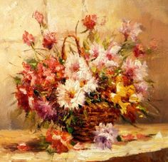 Flower oil paintinghand painted original by Paintingandthecity