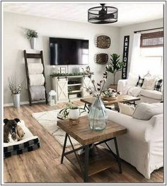 48 Cute Modern Farmhouse Living Room Decor Ideas living room design 48 C. 48 Cute Modern Farmhouse Living Room Decor Ideas living room design 48 Cute Modern Farmhouse Living Room Decor I. Small Space Living Room, New Living Room, My New Room, Living Room Decor Tv, Small Living Room Ideas With Tv, Family Room Design With Tv, Tv Stand Living Room, Gray Family Rooms, Living Room Ideas House