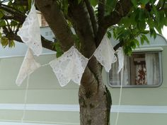 square lacey bunting