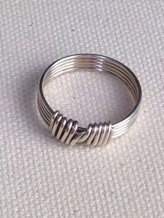 Handmade .999 fine silver wire wrapped ring size 7-1/2. Beautiful and simple on Etsy, $19.99