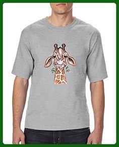Ugo Giraffe Matching Couples Birthday Christmas Gift Style w Hats Bags Leggings Ultra Cotton Unisex T-Shirt Tall Sizes - Animal shirts (*Amazon Partner-Link)