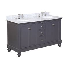 "Kitchen Bath Collection Bella 60"" Double Bathroom Vanity Set"