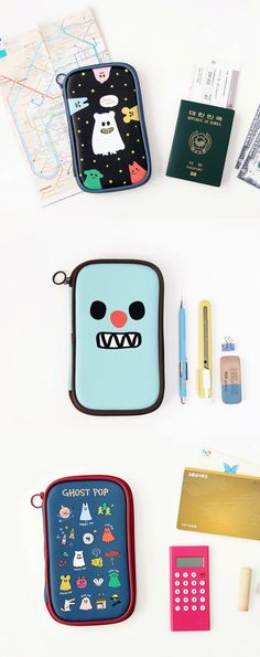 This is a pouch that can do it all! It can hold all your writing tools at once with many pockets to organize and store them neatly and conveniently! That's not all! This pouch is also perfect to carry your other small items as well. I haven't even mentioned how ridiculously cute and colorful these pouches are!
