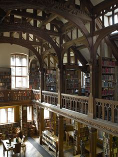 Theology Room at Gladstone's Residential Library in the UK... the ultimate vacation -reading books, sleeping with books, eating with books..... :-)