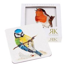 Garden Birds Glasbakke 10,5x10,5cm 6 stk #SPB #ChelseaFlowerShow #Fugle #Glasbakke