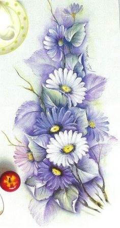 Flores - Moldes - Milena Vargas - Picasa Web Albums One Stroke Painting, Tole Painting, Fabric Painting, Painting & Drawing, Watercolor Paintings, Pictures To Paint, Painting Patterns, Painting Techniques, Flower Art
