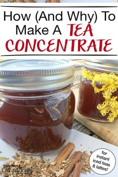 Ever wonder how to make a tea concentrate {and why}? The tradition of making a tea concentrate recipe is centuries old. This time of year, cold weather provides an excellent excuse to cozy in and give your body something hot, soothing, and healthy: a well-loved tea. Whether you like green, black, chai or spice tea (iced, hot or topped with a splash of cream), let's explore the many reasons why you'd want to make a tea concentrate, and then I'll teach you how to do it! #tea #teaconcentrate… Paleo Recipes Easy, Great Recipes, Favorite Recipes, Tea Concentrate Recipe, Sugar Free Bacon, Dinner Bowls, Low Carb Lunch, Grass Fed Beef, How To Make Tea