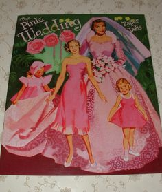 Hey, I found this really awesome Etsy listing at https://www.etsy.com/listing/178304675/1952-pink-wedding-paper-dolls-2009