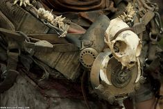Gasmask detail shot by NuclearSnailStudios