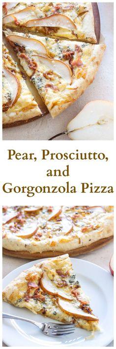 서양배 프로슈토 고르곤졸라 피자
