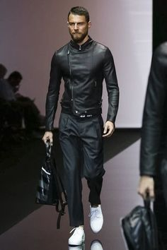 Emporio Armani Menswear Spring Summer 2015 Found on nowfashion.com