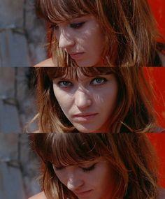 Anna Karina as Marianne Renoir in Jean Luc Godard's Pierrot Le Fou (1965)