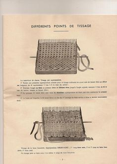 Nicolay looms plus original instruction sheets with weaving patterns