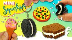 Mini SQUISHY FOOD Oreo, Pizza, Helado * SQUISHIES llaveros, colgantes, b...