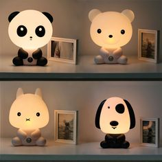 Adorable lamps! I need one of each!!! ❤️