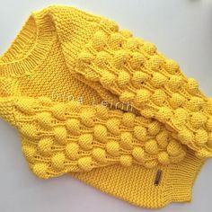 Последняя малинка на сегодня☀️ полностью соответст�... Baby Knitting Patterns, Knitting Designs, Hand Knitting, Crochet Patterns, Knitwear Fashion, Crochet Fashion, Big Knits, Crochet Yarn, Pulls