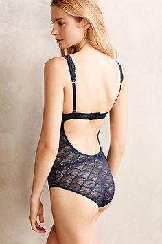 Eberjey Lace Bodysuit - anthropologie.com #anthrofave