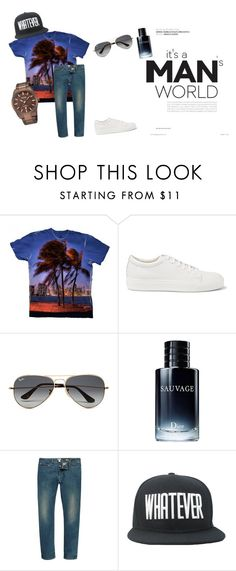 """Men's Fashion 101"" by yizzam on Polyvore featuring Acne Studios, Ray-Ban, Christian Dior, River Island, men's fashion and menswear"