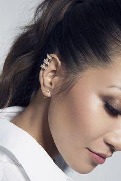 – Ice Athena ear cuff, Graphic ear jackets -Baublebar Design Collaboration