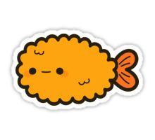 Cute prawn tempura Pegatina