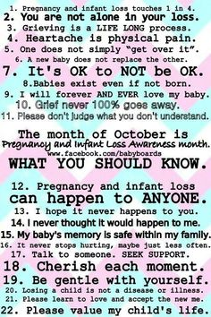 Pregnancy and infant loss awareness </3