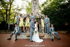 Love the party standing on the edge of Agave Road's beautiful fireplace hearth behind the couple. Copyright © Chris Wineinger Photography www.chriswphoto.com #agaveestates